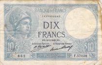 France 10 Francs Minerve - 19-03-1931 Série F.57038 - TB