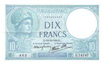 France 10 Francs Minerve - 19-10-1939 - Série E.74747