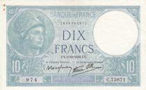 France 10 Francs Minerve - 1939