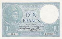 France 10 Francs Minerve - 1940