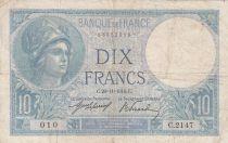 France 10 Francs Minerve - 20-11-1916 - Série C.2147