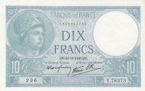 France 10 Francs Minerve - 24-10-1940 - Série Y.78373