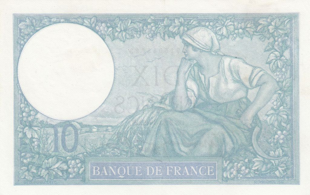 France 10 Francs Minerve - 26-09-1940 - Série S.76602