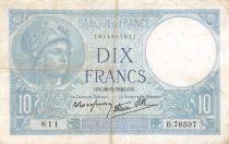 France 10 Francs Minerve - 26-09-1940 Série B.76597 - TB