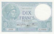 France 10 Francs Minerve - 26-10-1939 - Série C.75255