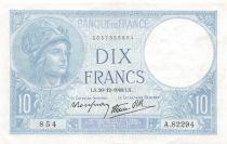France 10 Francs Minerve - 26-12-1940 Série A.82294 - SUP