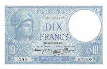 France 10 Francs Minerve - 28-09-1939 Série K.73385 - SPL