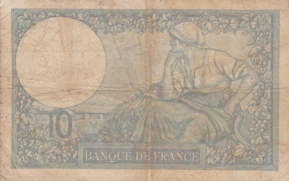 France 10 Francs Minerve - années 1916 à 1942