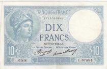 France 10 Francs Minerve 17-12-1936 - Serial L.67584