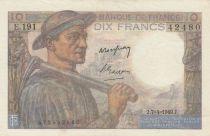 France 10 Francs Mineur - 07-04-1949- Série E.191