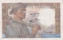 France 10 Francs Mineur - 09-09-1943 Série K.56 - SUP