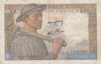 France 10 Francs Mineur - 11-06-1942 Série A.8 - TB+