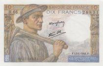 France 10 Francs Mineur - 13-01-1944 - Série H.66