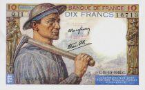 France 10 Francs Mineur - 15-10-1942 Série Q.11 - SPL