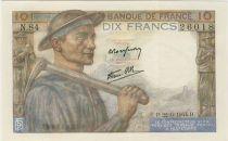 France 10 Francs Mineur - 1944