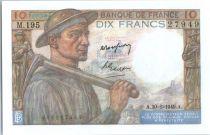 France 10 Francs Mineur - 1949 - M.195