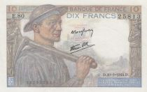 France 10 Francs Mineur - 20-01-1944 - Série E.80
