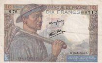 France 10 Francs Mineur - 20-01-1944 Série R.78 - TTB