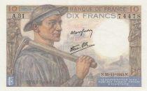 France 10 Francs Mineur - 26-11-1942 - Série A.31