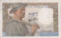 France 10 Francs Mineur - 26-11-1942 Série Z.29 - TB