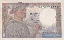France 10 Francs Mineur - 30-06-1949 Série B.206 - SUP+
