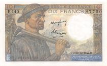 France 10 Francs Mineur - 30-10-1947 Série E.140 - NEUF