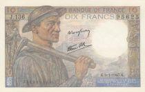 France 10 Francs Mineur 09-01-1947 - Série J.136