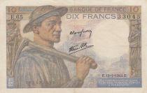 France 10 Francs Mineur 13-01-1944 - Série E.65