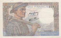France 10 Francs Mineur 26-09-1946 - Série O.109