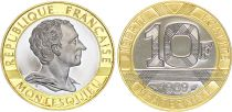 France 10 Francs Montesquieu Or  BE - 1989 - sans coffret