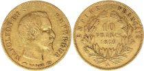 France 10 Francs Napoléon III - Tête nue 1855 A Or