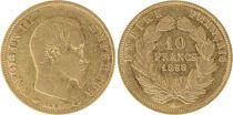 France 10 Francs Napoléon III - Tête nue 1858 A Or