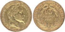 France 10 Francs Napoléon III Tête Laurée -1866 BB Strasbourg