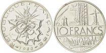 France 10 Francs Piéfort 1980 - Silver