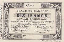 France 10 Francs Place des Langres - 1870 - Monnaie Obsidionale
