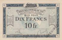 France 10 Francs Régie des chemins de Fer - 1923 - Spécimen Série OO