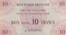 France 10 Francs Services des Prisonniers de Guerre - 1945