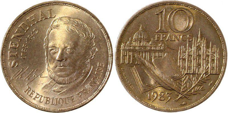 France 10 Francs Stendhal