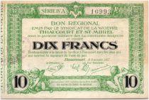 France 10 Francs Thiaucourt-St-Mihiel Bon régional