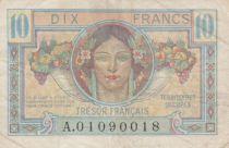 France 10 Francs Trésor Français - Territoires occupés 1947 - TB+