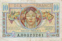 France 10 Francs Trésor Français - Territoires occupés 1947 - TB
