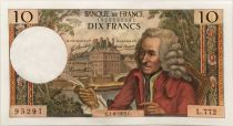 France 10 Francs Voltaire - 01-06-1972 Serial L.772 - XF