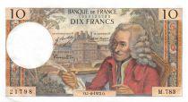 France 10 Francs Voltaire - 01-06-1972 Serial M.783 - aUNC