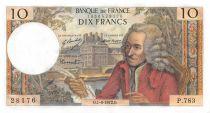 France 10 Francs Voltaire - 01-06-1972 Serial P.783 - AU