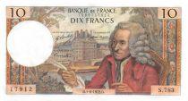 France 10 Francs Voltaire - 01-06-1972 Serial S.783 - AU
