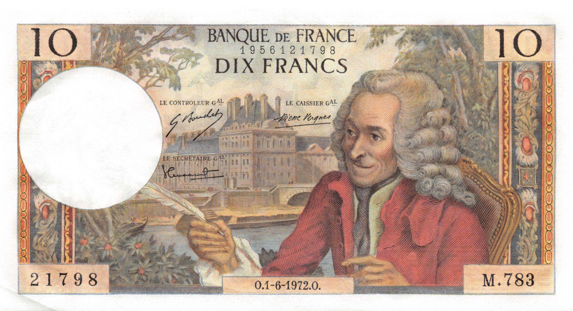 France 10 Francs Voltaire - 01-06-1972 Série M.783 - P.NEUF