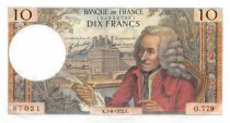 France 10 Francs Voltaire - 01-06-1972 Série O.779 - SUP