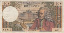 France 10 Francs Voltaire - 02-01-1964 Serial Q.64 - F