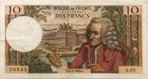 France 10 Francs Voltaire - 02-01-1964 Serial S.65 - F to VF