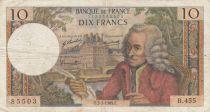France 10 Francs Voltaire - 02-01-1969 Série B.455 - TB+
